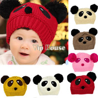 Summer winter animal hat - CUTE lovely animal panda baby hats and caps kids boy girl crochet beanie hats winter cap for children to keep warm b14