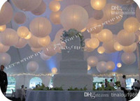 Cheap Mix Styles Chinese White Paper Lanterns with LED lights for Wedding Party Halloween Christmas Decoration