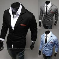 Wholesale suits Mens Casual one button suits TOP Design Sexy Slim FIT Jacket Coats Suits M XXL colors