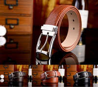 Wholesale 3 Color Man Genuine Leather Belts Crocodile Fashion Noble Business First layer of leather Men Belts Gentleman Necessary Quality