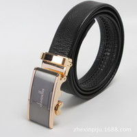 Wholesale 2014 New Fashion Man Business Belts Doaxila Luxury Elegant First Layer Real Leather Men Dress Automatic Buckle Belt High Quality