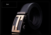 Wholesale New Fashion European Man Belts Genuine Leather Waist Strap Automatic Classic Two F Sharp Brand Buckle Business Cintos Masculinos