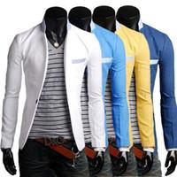 Men blazer jacket men - New Fasion Blazer Men Special Single Button Multicolor Classic Casual Men s Suit Jacket Cotton Mens Blazer M XXL