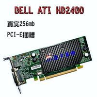 Wholesale DELL Original HD2400 M dual screen high definition graphics hardware solutions full half height PCI E graphics card knife