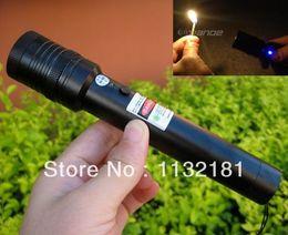 Wholesale high power the laser pointer mw ignition Chai Lvguang pen laser green pen laser burn match