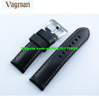 Wholesale 018 Black Handmade Genuine Leather Strap Watch Chunky Calf Skin Watchband mm mm For Panerai watch straps