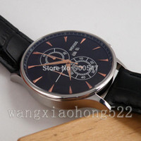Wholesale Details about wekiss black dail Full chronograph quartz mens Watch black leather