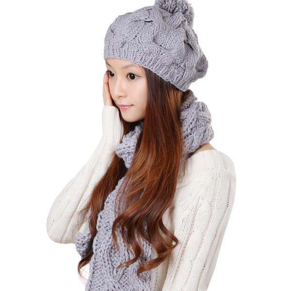 Scarf Hat Winter Woman...