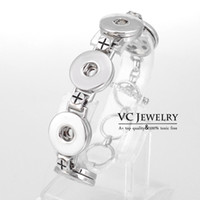 Wholesale Vocheng NOOSA Metal Button Charm Bracelet New Interchangeable Jewelry with Snap Buttons Vb