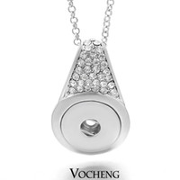 Wholesale Vocheng NOOSA Ginger Snap Buttons Jewelry Interchangeable Jewerly Crystal Pendants Necklace NN