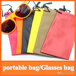 Wholesale hot waterproof sunglasses pouch soft eyeglasses bag glasses case many colors mixed cm