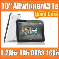 Wholesale 1 GHZ GB GB Quad Core Allwinner A33 A31S A23 android dual camera inch quot tablet pc Bluetooth USB OTG HDMI