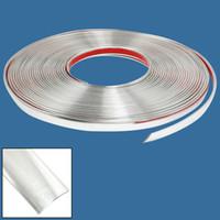 Cheap Silver Tone PVC Adhesive Car Window Moulding Trim Strip Line 15M x 12mm