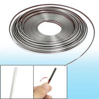 Cheap Car Window Silver Tone Soft PVC Adhesive Back Moulding Trim Strip Line 15M x 4mm