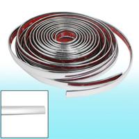 Cheap Car Window Silver Tone Soft PVC Adhesive Back Moulding Trim Strip Line 8M x 10mm