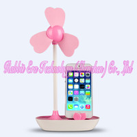 Wholesale 2014 Novelty DIY portable usb hub mini travel fan and battery operated mini fan with mobile holder