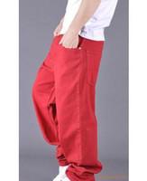 Wholesale Men s hip hop jeans bigger sizes loose skateboard jeans Mens rocawear jeans