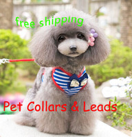 Wholesale Dog Pet Collars Leads Pet Suspenders dog supplies for small dog and kgkg