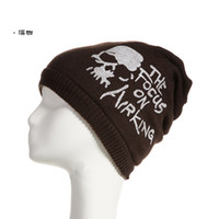 Wholesale warm hats The new head cap sleeve knit lady male couple piles of autumn and winter hat Korean version of the influx of dual use wool cap wh