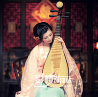 Wholesale Photography Props Chinese wind instrument performances performances costume props Pipa pipa line can play wood