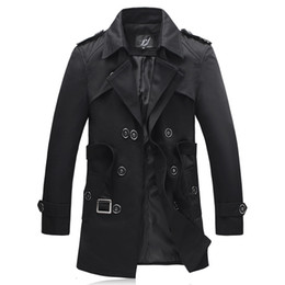 Wholesale New Arrival Fashion Trench Men High Quality Turn Down Collar Jacket Men Outerwear Men s Trench Coat Plus Size XL XL