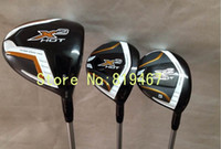 Wholesale golf clubs X2 hot driver loft regular flex X2 hot fairway woods total free headcover
