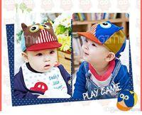 Wholesale Spring Baby Visors Hats Baseball capInfant Owl Design Patchwork Visors Caps Kids Hat Accessories
