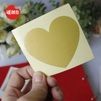Wholesale lovely loving heart Stickers scratch cards creative scratch CARDS diy love CARDS