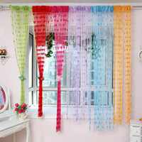 wall dividers - Door Window Wall Panel Curtain Room Divider String Fringe Tassel Strip Orange