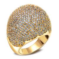 achat en gros de anneau de définition-Pierres full ring Derniers modèles Shape Dome Micro Pave Définition de la couleur des bijoux de luxe accessories18k Placage nuptiale Bague