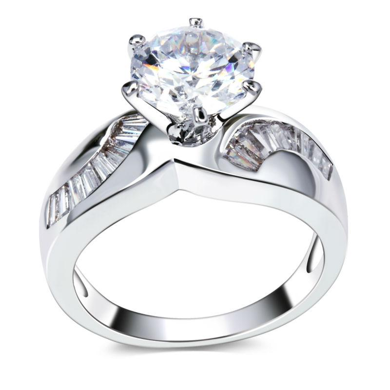 wedding rings womens unique jewelry 18k gold plated accessories for woman bands classic ring for woman hot fashion ring high quality jewelry - High Quality Cubic Zirconia Wedding Rings