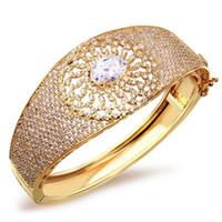 Wholesale Wedding Jewelry Luxury elegant bracelet AAA Cubic Zirconia bangles Prong Setting Propose Marriage Present