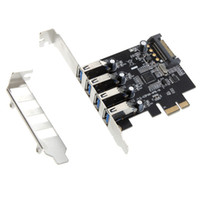 Wholesale 4 Port SuperSpeed USB PCI Express Controller Card Adapter pin SATA Power Connector Low Profile