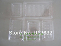 Wholesale PET fresh tray Transparent disposable food box fruit packaging box strawberry box