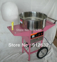 Cheap *commercial Cotton Candy Floss maker, Cotton maker machine with Cart and bubble cover