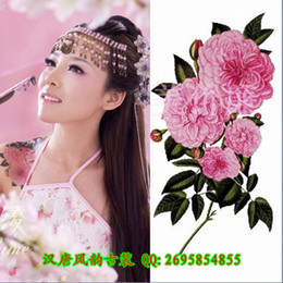 Wholesale Square plates woman Flore large tattoo stickers waterproof female models essential figure wedding photo stickers
