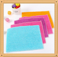 Wholesale 18cm cm Bamboo Fiber Cleaning Cloth Magic Multifunctional Cloth Not off The Fiber Rag Without Detergent Bamboo Fiber DHL Free