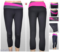 Women Nylon Pants 2014 Hot Foldover Waistband Stretchy Slim Yoga Sweat Lounge Long Pants Stretchy SlFor Women Fitness Suit Cheap Legging Soft Tight