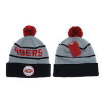 Beanie/Skull Cap 49ers - 49ers Beanie Caps Football Beanies for Men Women Outdoor Knitted Hats Cheap Skullcaps Hot Selling Knitted Hats Autumn Headwear Sports Caps