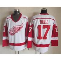 Wholesale Red Wings Hull Throwback Hockey Jerseys Mens Jerseys White Hockey Apparel Brand Jerseys Highest Quality Hockey Uniform for Sale