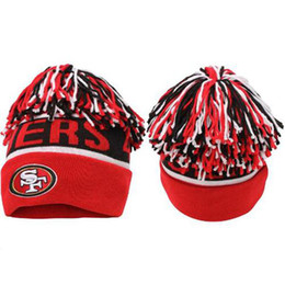 Wholesale 2014 Latest ers Beanies Football Beanie Hats Black White Red Knitted Hats Skullcaps for Men Women Causal Outdoor Hats Caps Team Beanies