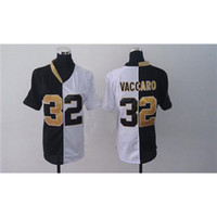 Wholesale All Teams Kenny Vaccaro Green And White Split American Football Jerseys Womens Game Football Jerseys Cheap Athletic Wear Mix Order