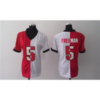 Wholesale Mix Order Josh Freeman Red And White Split American Football Jerseys Womens Game Football Jerseys New Style Cheap Football Uniforms