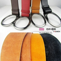 Wholesale 2 Authentic women wide girdle round buckle waist belt leather belt leather belt female wild