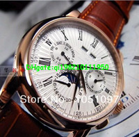 Luxury automatic watch mechanism - swiss man mechanism hours high quality gold plated moonphase self wind automatic mens wrist watches calender watch men