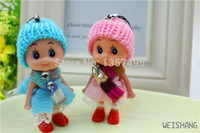 Wholesale Princess doll for iphone mobile phone accessory Creative bag pendant key ring keychain gifts trinket chatelaine Bag Pendant