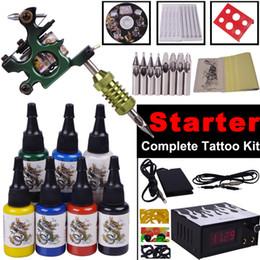 Wholesale Complete Tattoo Machine Kit Rotary Machine Gun Tattoo Starter SetPermanent Makeup Machine Kit YLT
