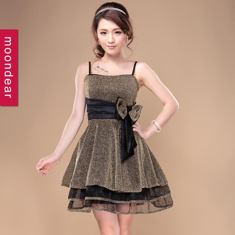 Hot Sale Short Design Sexy Birthday Bow Formal Dress Ladies ...