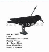 Wholesale crow decoy hunting decoys flocked crow garden decoration plastic crow and retail for hunting