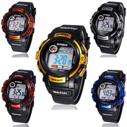 2017 relojes de pulsera piezas Mayorista-1 trozo Chico de LED Digital de Cuarzo con Alarma Fecha de Deportes Impermeable Reloj de Pulsera Roja relojes de pulsera piezas en venta